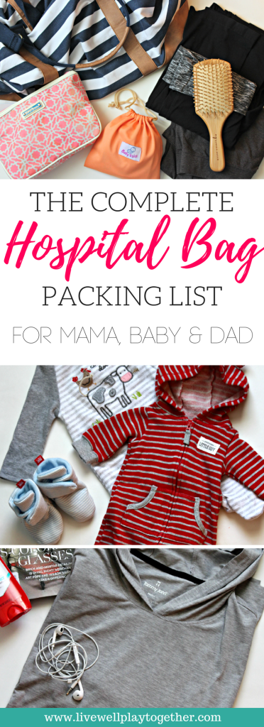 The Complete Hospital Bag Packing List + FREE Printable Checklist | Everything You Need for Labor & Delivery List for Mama, Baby, and Dad Hospital Bag | Pregnancy | Labor and Delivery | Preparing for Baby