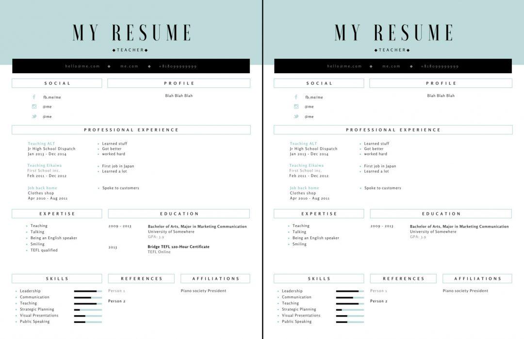Resume with TEFL vs no TEFL