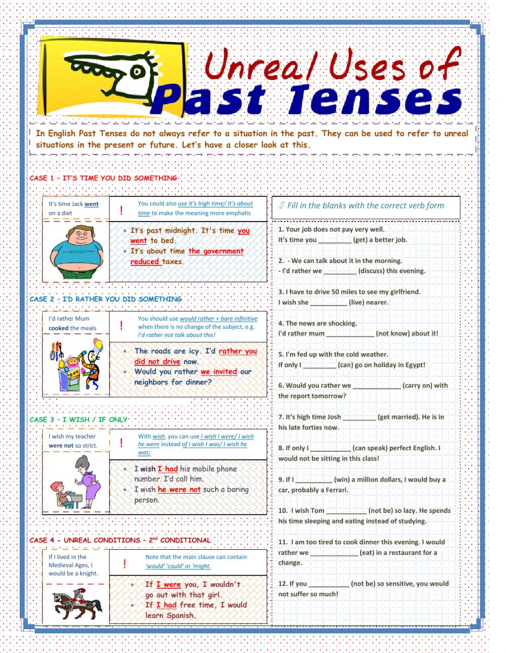 Unreal Uses Of Past Tenses