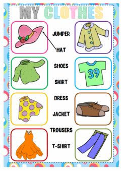 English Exercises Clothes