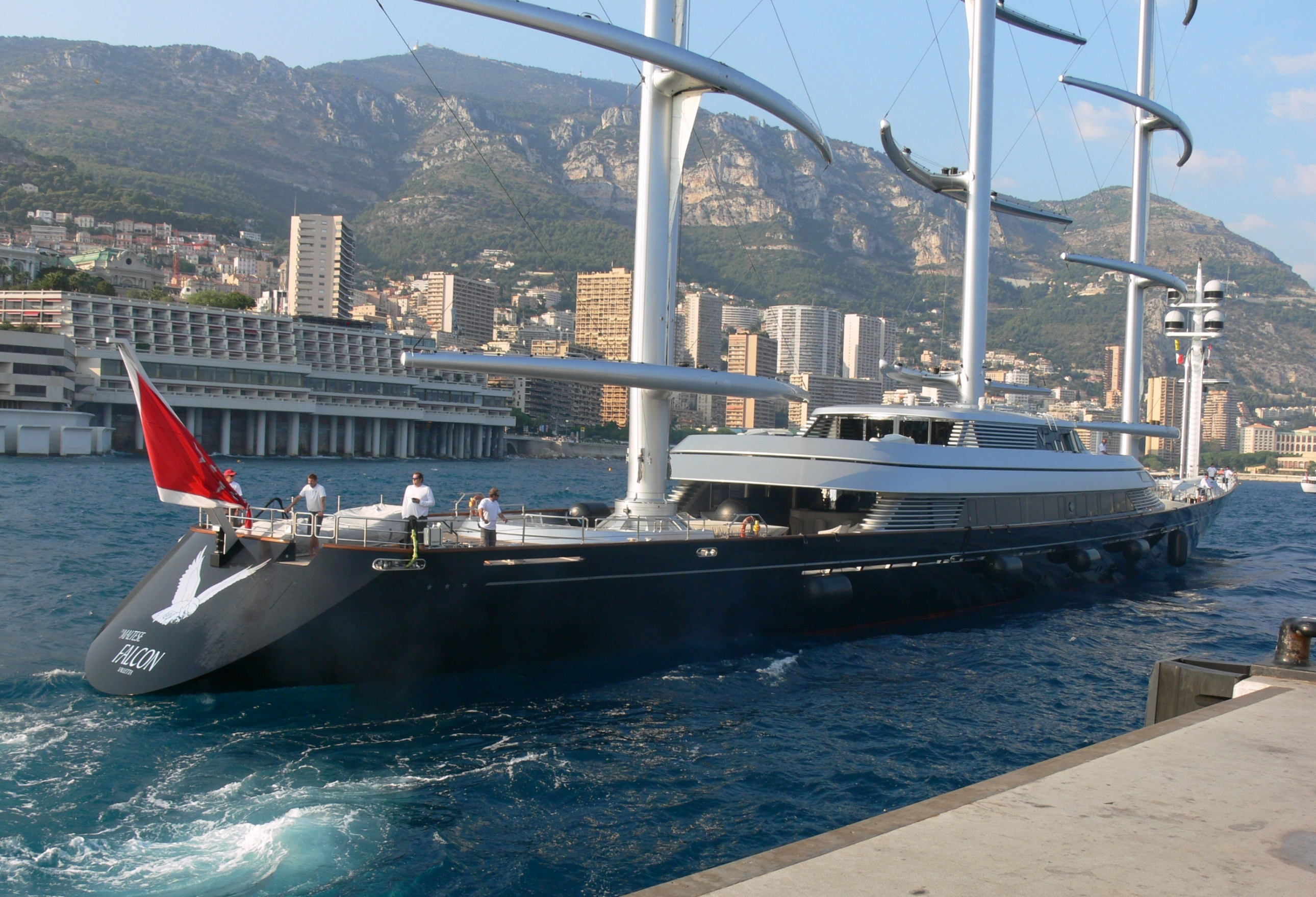 MALTESE FALCON Arriving Monaco For The Yacht Show