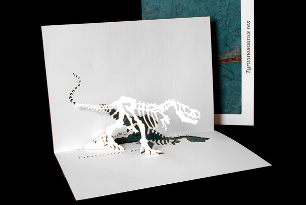 T Rex Origami Architecture Pop Up Cards By Live Your