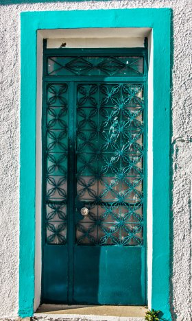greece-blue-door-village