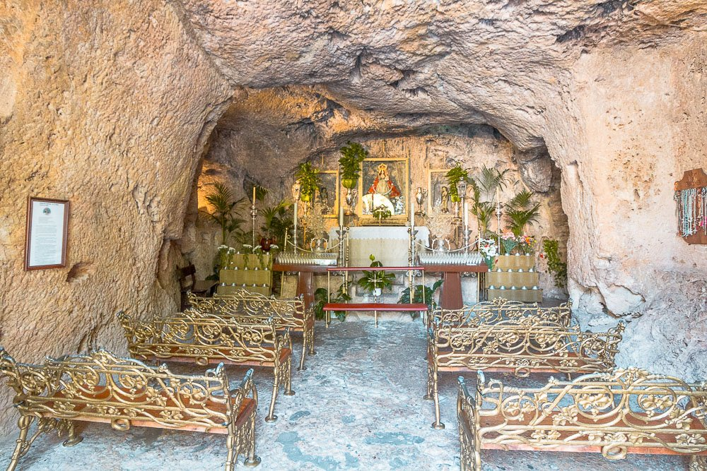 inside the mijas cave chapel