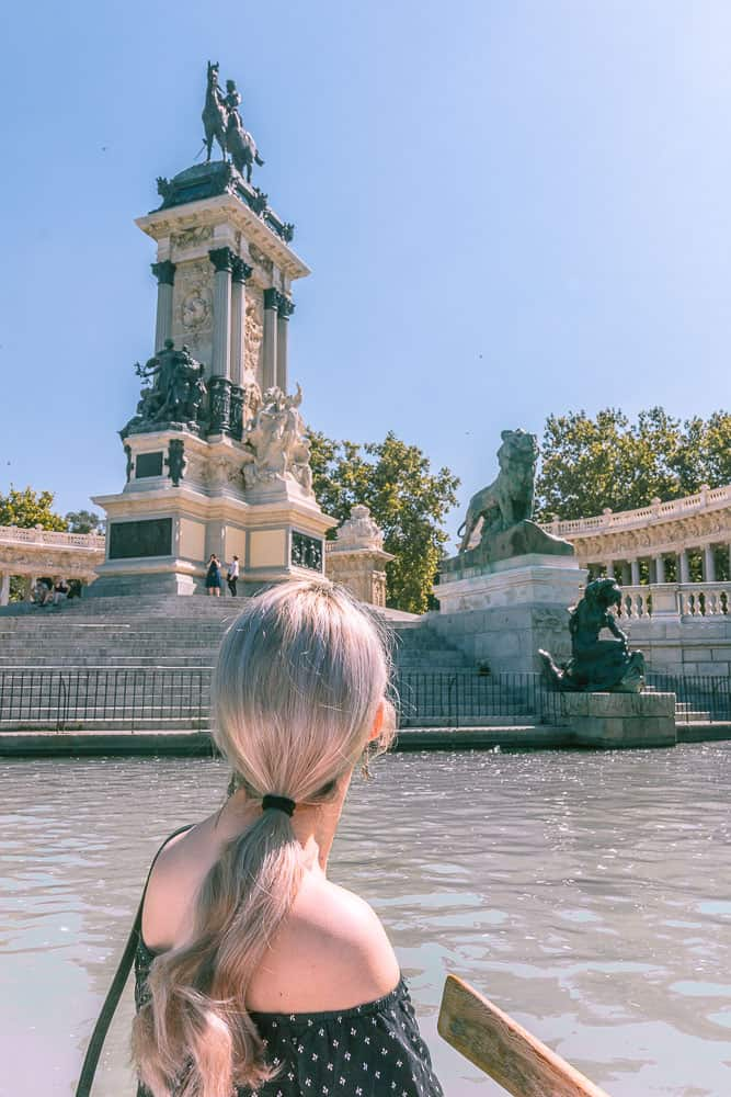 madrid - looking out at El Retiro Lake