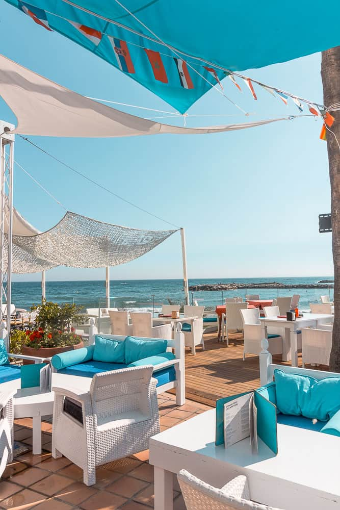puerto banus beach bar