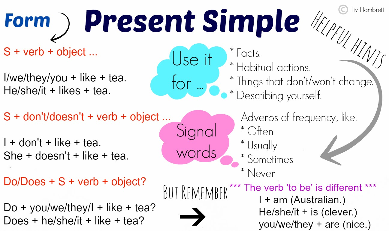 Present Simple And Present Continuous Revision