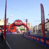 The finish line in Trg Ban Jelacic