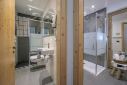 Two bathrooms with shower