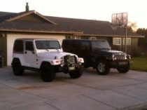 Our jeeps before the lifts