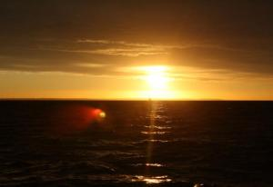 Golden Sun on Sea