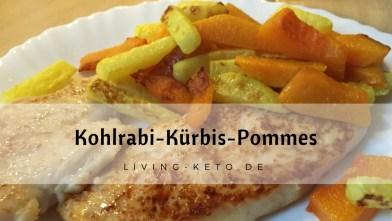 Kohlrabi-Kürbis-Pommes – gebacken