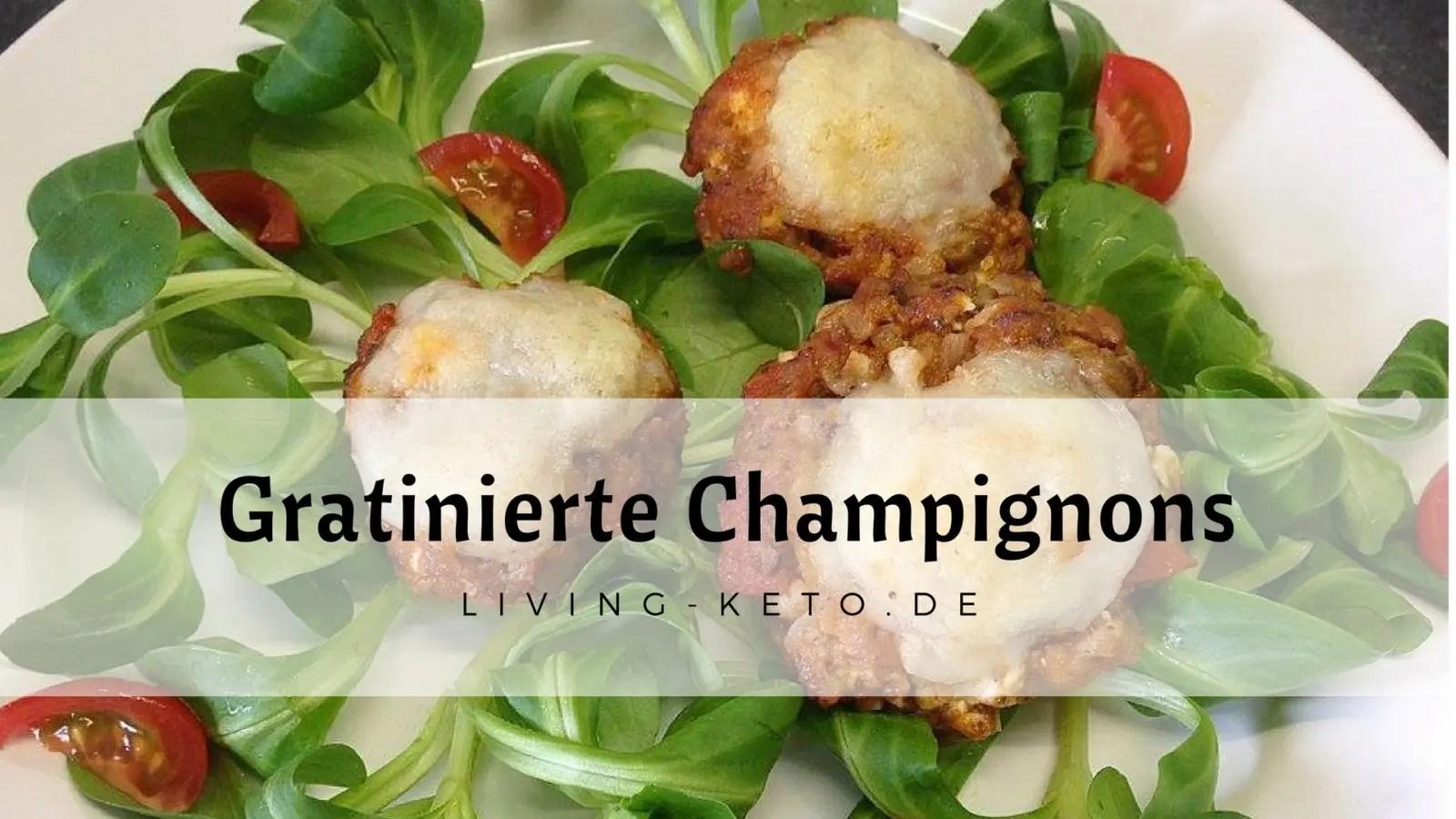 Read more about the article Gefüllte gratinierte Champignons mit Bolognese und Feta