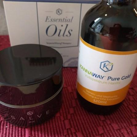 Kannaway Pure Gold, CBD Salve und Essential Oils