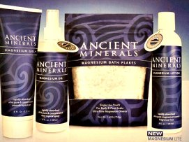 Ancient Minerals brand contains an ultra-pure form of naturally occurring magnesium chloride and other trace minerals.