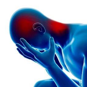 Un punto gatillo fibromialgia común se produce alrededor de la parte posterior de la zona de la cabeza, el cuello y el cráneo.