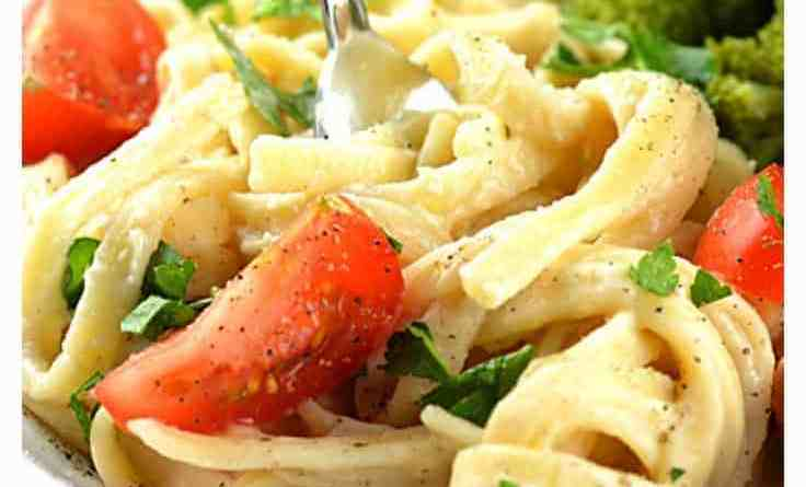 White Bean Fettucine Alfredo