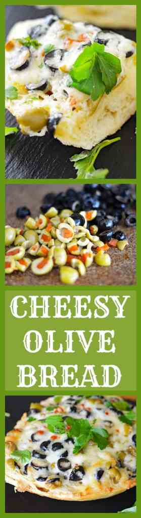 Cheesy Vegan Olive Bread