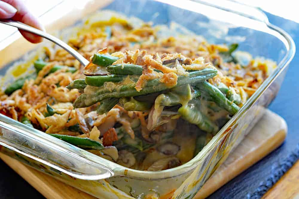 Easy Vegan Green Bean Casserole