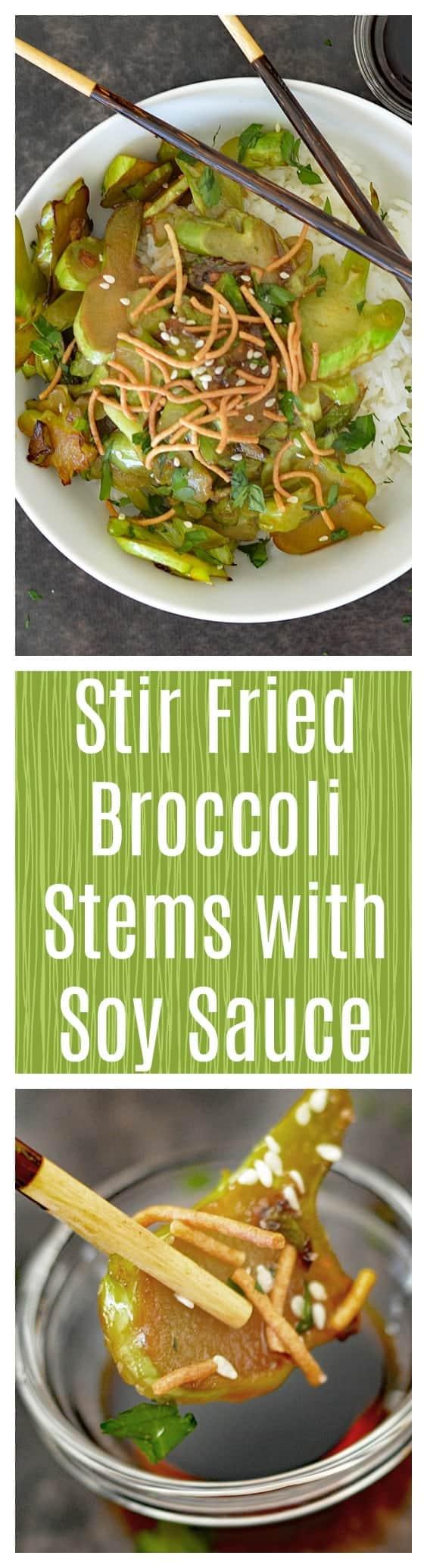 Stir Fried Broccoli Stems