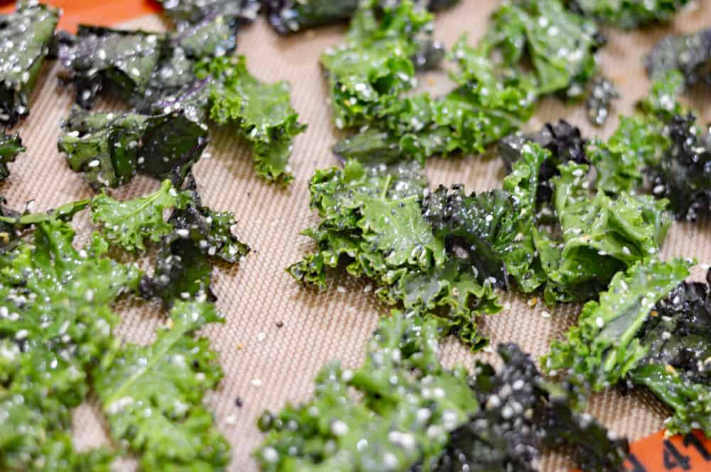 Everything But The Bagel Kale Chips ready to bake