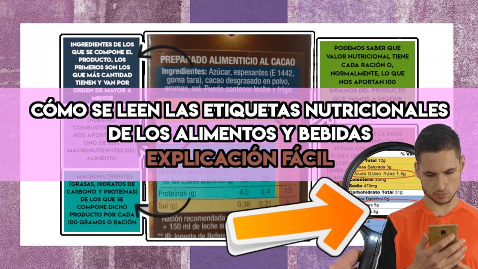 Cómo leer la etiqueta nutricional de un producto