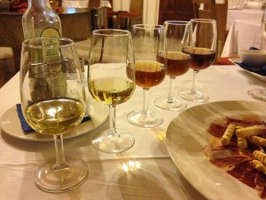 Sherry styles (from left to right): Manzanilla, Fino, Amontillado, Palo Cortado, and Oloroso by Michal Osmenda