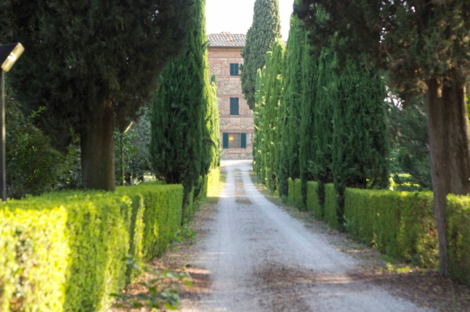 Driveway to the villa