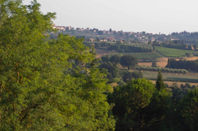 Our view of the countryside outside Lucignano