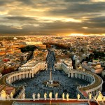 Piazza San Pietro and Rome by Giampaolo Macorig