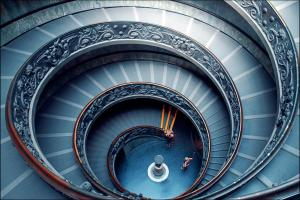 Vatican Stairs by Marcel Germain