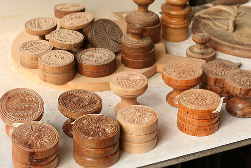 Stamps for making corzetti by Rubber Slippers in Italy