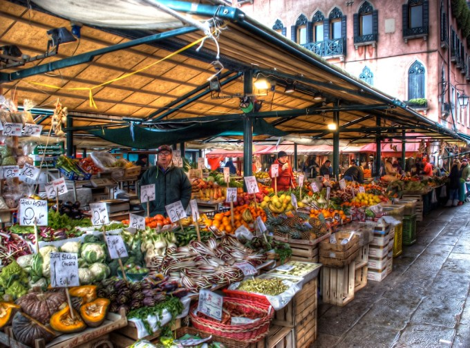 Venetian fruit market by Dorli Photography