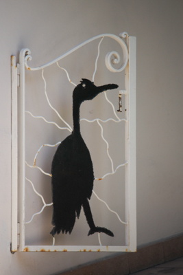 The door to Il Cormorano