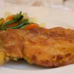 Costoletta alla milanese (veal chop breaded and fried) - utterly delicious