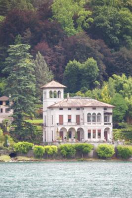 View of a villa from Tremezzo