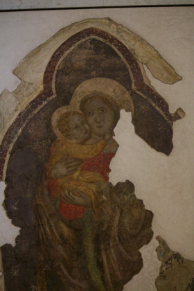 Frescoes inside Castelvecchio