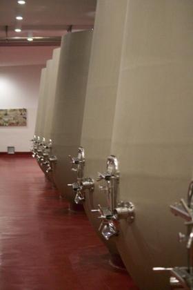 The concrete tanks