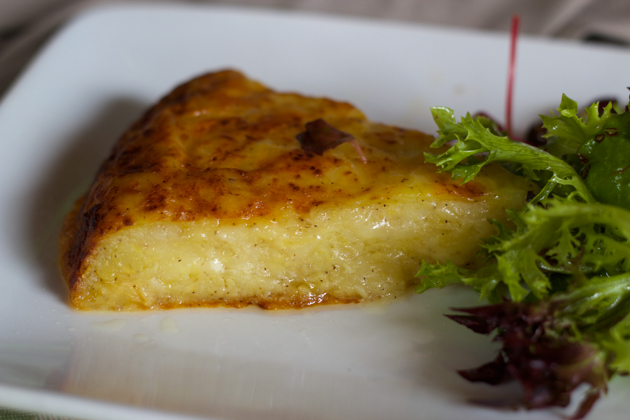 Frico (Montasio cheese melted with mashed potatoes and onion)