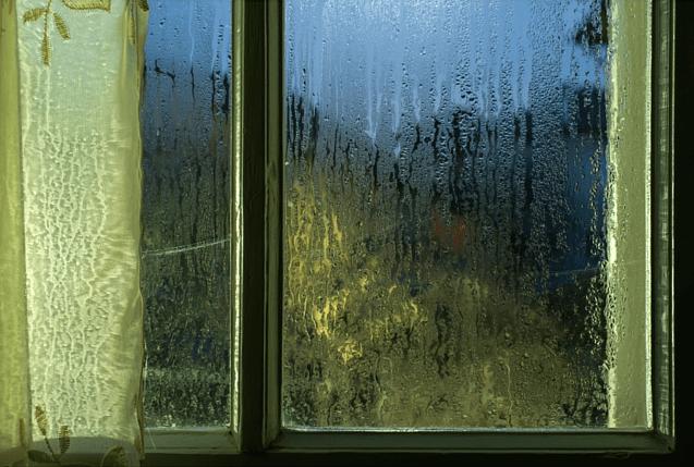 steamed up window, crop