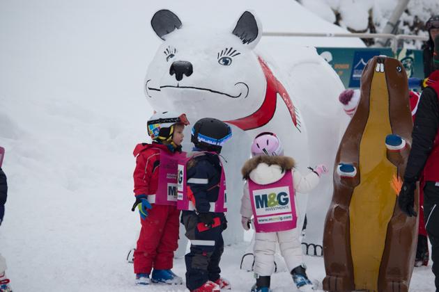 Little ones at ski school