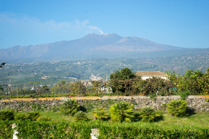 Mount Etna, a live volcano just outside of Catania