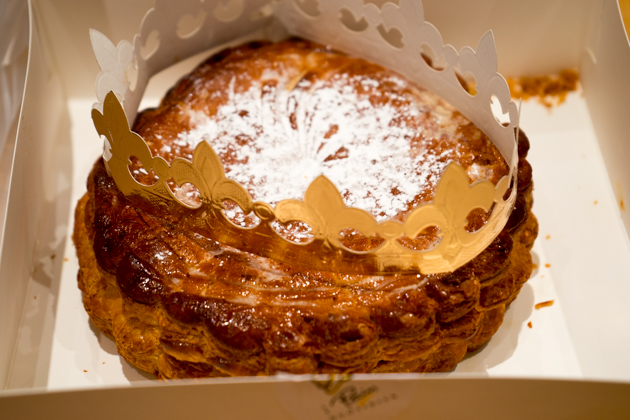 Galette des rois (king cake- puff pastry filled with almond paste)
