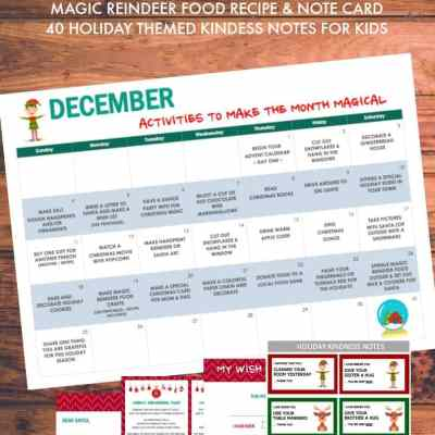 Christmas Printable Pack Including a December Activity Calendar