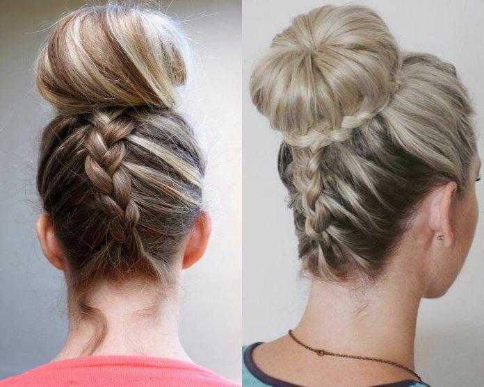 bun-hairstyles-with-Dutch-braids
