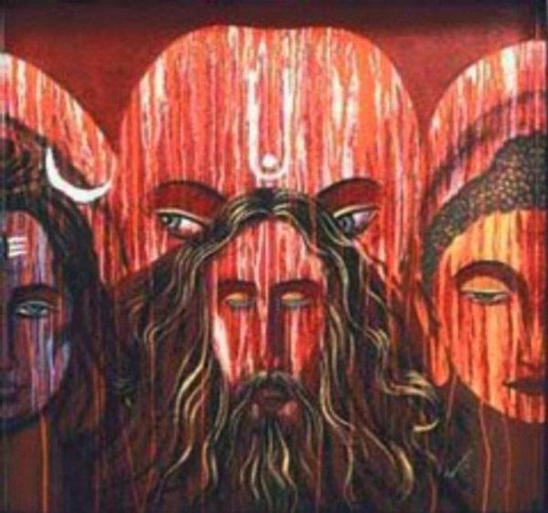 সালমানের বেশ কিছু ছবি বলে ধর্মীয় ঐক্যতার কথা। একই ফ্রেমে রয়েছে তিন পৃথক ধর্মের দেবতার ছবি।