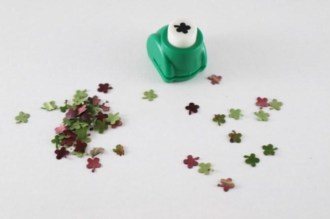 Zero waste confetti met een pons