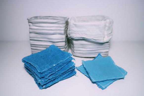 Herbruikbare wattenschijfjes naaien