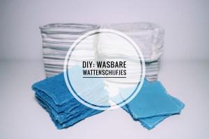 DIY zelf wasbare wattenschijfjes maken
