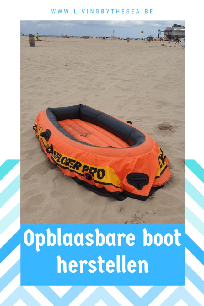 Lek in opblaasbare boot herstellen